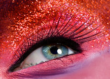Macro eye with glitters Stock Images