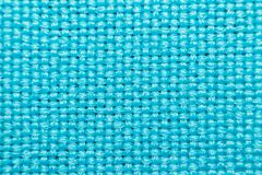 Macro of fabric weave texture surface. Blue or indigo blue color use for background Stock Image