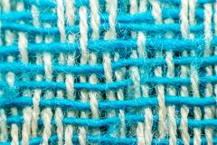 Macro of fabric weave texture surface Royalty Free Stock Photography