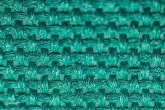 Macro of fabric weave texture surface. Blue or indigo blue color use for background Royalty Free Stock Image