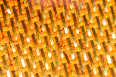 Macro of fabric weave texture surface Royalty Free Stock Photo