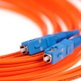 Macro Fiber optic patchcord SC Stock Photo