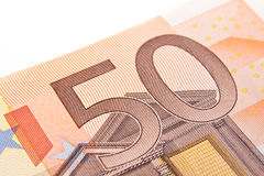 Macro fifty euro Stock Photography