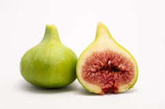 Macro of a fig cut Stock Photos