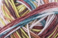 Macro filo strutturato del filato di lana di colore Immagini Stock