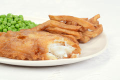 Macro fish and chip dinner Stock Photography