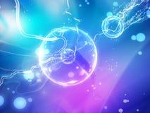 Macro fond abstrait scientifique. Illustration de Vecteur