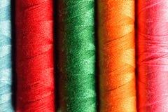 Macro fond de fil de couture coloré Photo stock