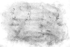 Macro fondo di struttura dell'acquerello astratto nero Contesto astratto di gradazione di grigio di struttura dell'acquerello illustrazione di stock