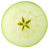 Macro food collection - Green apple slice Stock Photography