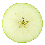 Macro food collection - Green apple slice Royalty Free Stock Photos