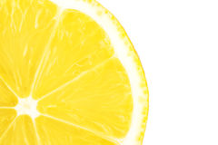 Macro food collection - Lemon slice Stock Image