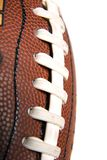 Macro of Football Stitches Royalty Free Stock Photo