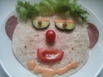 Macro foto dell'alimento art immagini stock