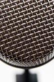 Macro foto di un microfono vocale Fotografia Stock