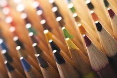 Het Uiteinde van kleurpotloden Royalty-vrije Stock Fotografie