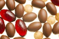Macro fotografia delle pillole medicinali variopinte Immagini Stock Libere da Diritti