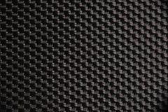 Macro fotografia di un tessuto di nylon nero Immagini Stock