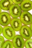 Macro fotosectie van kivifruit Stock Fotografie