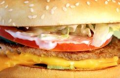 Macro fragment burger Royalty Free Stock Photo