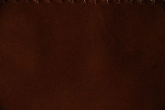 Macro fragment of a leather bag or purse. Handmade, texture background. Macro fragment of a red leather bag or purse. Handmade, texture background Royalty Free Stock Photo