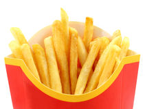 Macro french fries Stock Photo