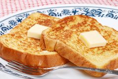 Macro french toast Royalty Free Stock Images