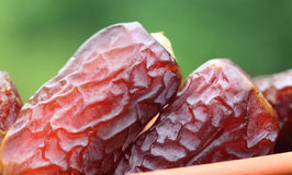 Macro of Fresh Arabian Dates Royalty Free Stock Photography