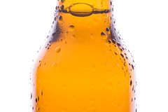 Macro of a fresh beer Royalty Free Stock Images