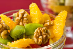 Macro of fresh fruit salad Royalty Free Stock Photos