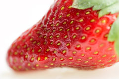 Macro of fresh strawberry Royalty Free Stock Images