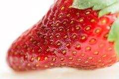Macro of fresh strawberry Royalty Free Stock Images