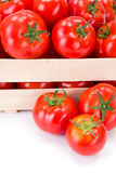 Macro of fresh tomatoes (Solanum lycopersicum) Stock Photos