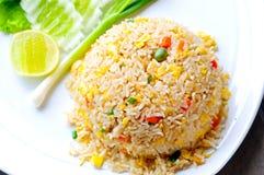 Macro Fried rice Stock Image