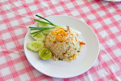 Macro Fried rice thai style Stock Image