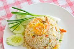 Macro Fried rice thai style Stock Images