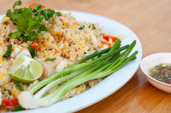 Macro Fried rice thai style Royalty Free Stock Photos