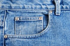 Macro Front Jeans Pocket Royalty Free Stock Photography