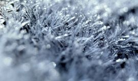 Frost macro close up Royalty Free Stock Images