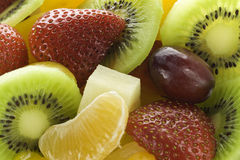 Macro fruit salad Stock Photos