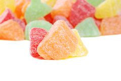 Macro fruit slice candy Royalty Free Stock Photos