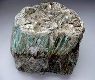 Macro fucilazione del minerale verde di roccia naturale del talco della raccolta Fotografie Stock