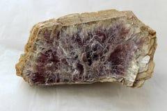 Macro fucilazione della pietra minerale naturale - pietra preziosa del lepidolite Fotografia Stock