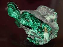 Macro fucilazione della pietra preziosa naturale - malachite Immagini Stock