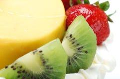 Macro gâteau de fruit Images libres de droits