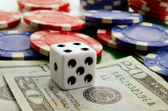 Macro gambling Stock Photo