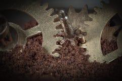 Macro gear mechanism Stock Photo