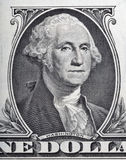 Macro of George Washington on one dollar bill Royalty Free Stock Photography