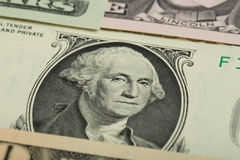 Macro of George Washington on USA dollar banknote Royalty Free Stock Photography
