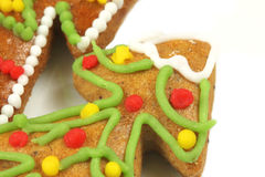 Macro gingerbread Christmas tree Royalty Free Stock Photo